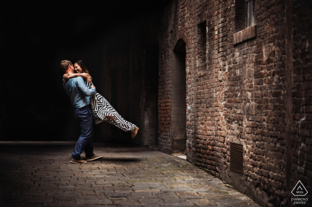 Marco Vegni, of Siena, is a wedding photographer for