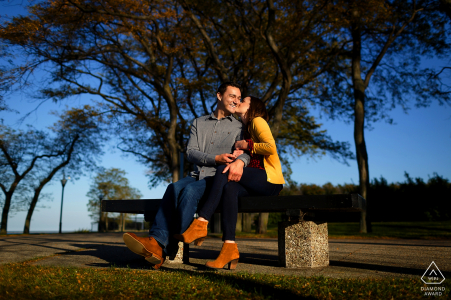 Engagement session with couple at Olive Park, Chicago Illinois