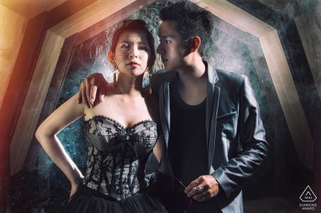 Taiwan Hualien PRE-WEDDING Betrokkenheid Fotoshoot met rook