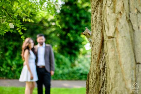 England - Regents park portrait of couple in the park