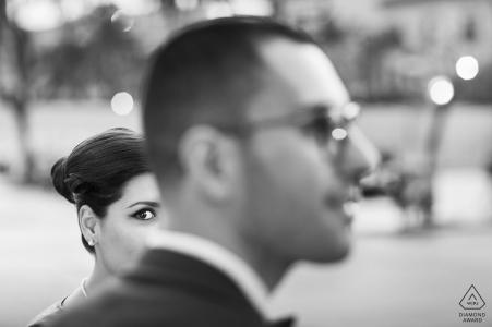Photo noir et blanc avant mariage par un photographe en Sicile