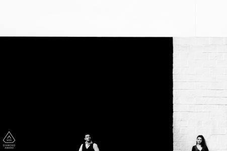 California - Northern Engagement Portraits at santana row san jose
