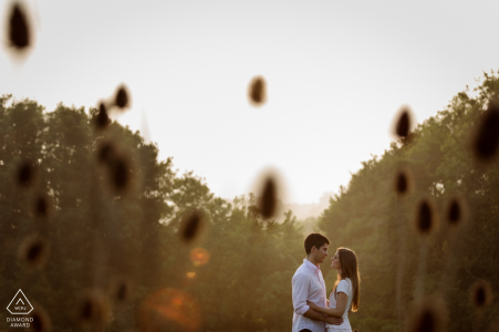 A countryside engagement couple shoot in Bekesbourne, Kent UK