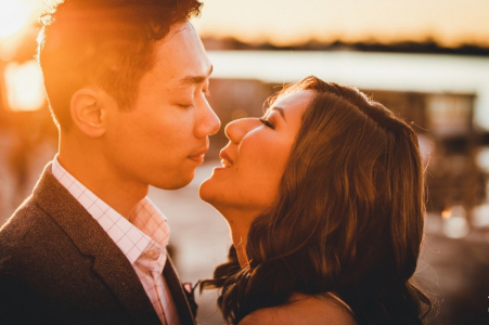 Pre-wedding in Italy -  Engagement Photograph at Sunset