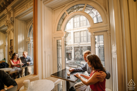 Tommy Cafe, Old Montreal - Engagement Portraits
