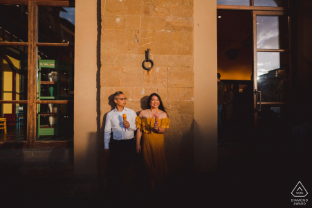 Florence Engagement Photographs from the sunfilled streets