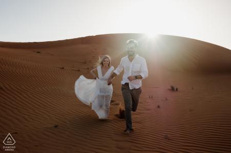 Fossil Rock, tournage de fiançailles dans le désert de Dubaï | Aventure dans le sable et le soleil