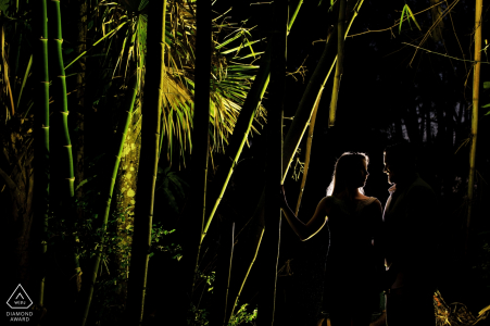 Key West Engagement Photos in a Forest - by a Florida wedding photographer