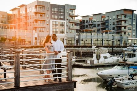 Boston, Massachusetts engagement photographer   portrait session at the Marina docks