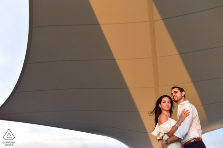 Now Amber Resort, Puerto Vallarta, Mexico Engagement Shoot Session at the motor lobby.