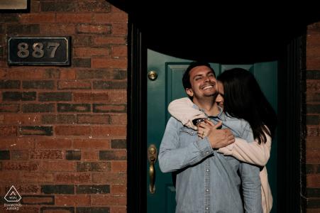 Chicago Engagement Portrait Session - le point d'un sourire naturel et magnifique