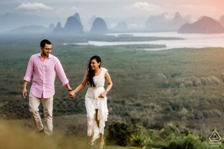 Paesaggio di Sametnangsee, sessione di fotografia di fidanzamento Phang Nga