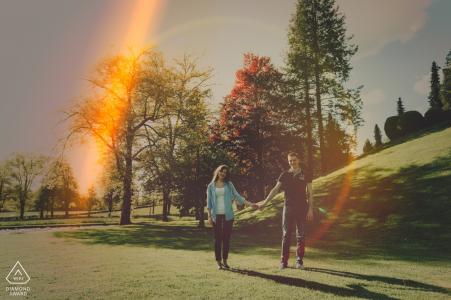 Gorenjska, Slovenia Engagement Shoot with Love and Lens Flares