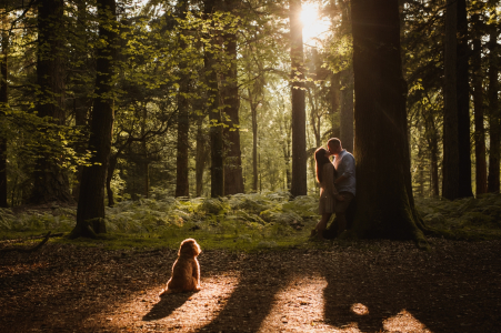 Blackwater Arboretum Portrait Session - This dog is Part of the family too