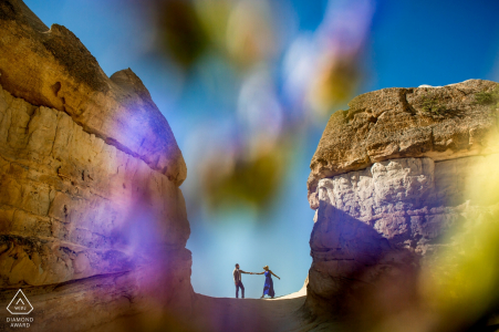 Cappadocia, Turkey engagement session with an American couple