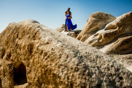 Séance de fiançailles avec un couple américain en Cappadoce