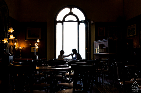 Montepulciano - Tuscany - Italy - Have a coffee with engaged couple
