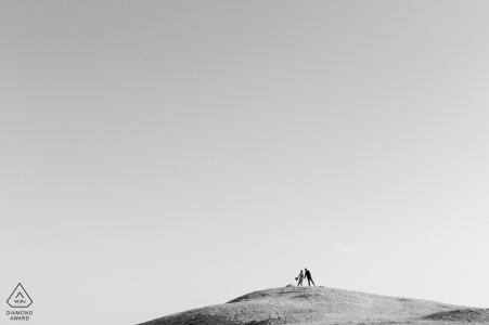 Kuwait desert engagement and pre wedding portraits in black and white