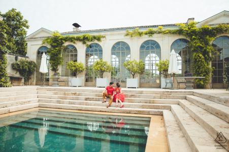CHATEAU DE TERTRE, FRANKREICH FOTOGRAFIE - Engagement Session Bordeaux, vor ihrer Hochzeit in HK