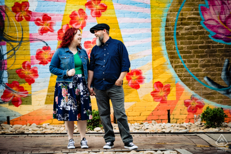 Charlotte North Carolina Engagement Portraits in the arts district