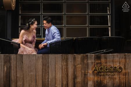 Portrait de fiançailles à Shanghai   Séance photo pré-mariage à l'extérieur