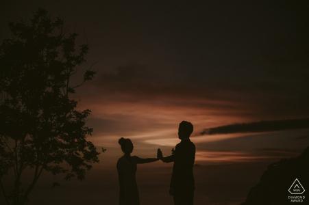 Alila Uluwatu Bali prewedding photoshoot at sunset.