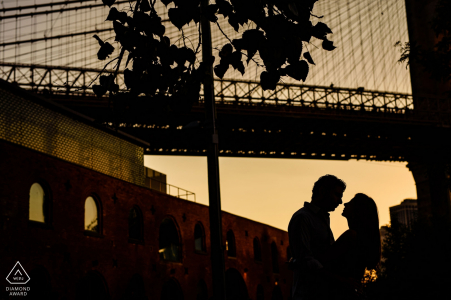 Couple's portrait in Dumbo   NYC wedding and engagement photography