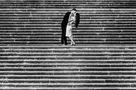 Engagement Photography for Rome - Italy   The stairs inside the Rome Capitoline hill