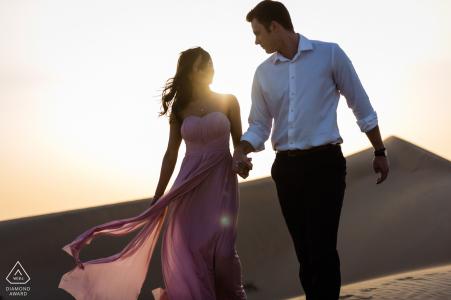 Al Qudra Desert Dubai - Dune Wandering during Couple Portrait Shoot