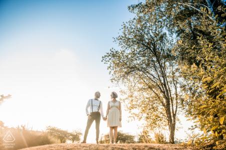 Séance couple au PACS - France- Photographie d'engagement Oise