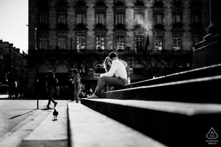 Bordeaux, France Couple Portrait Session on the Stairs