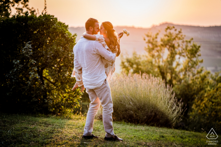 Castellina in Chianti, Siena PreWedding Photography | Engagement portrait session in Tuscany