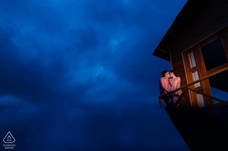 Maison rustique, séance de photos avant le fiançailles avec le Vietnam Engagement