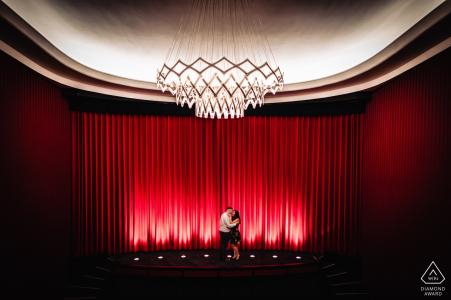 Cinema Casino Aschaffenburg Germany - Portrait Couple Shooting in Cinema