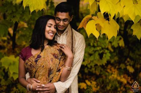 Mont-Orford, Quebec Engagement Shoot   Couple with the fall colors