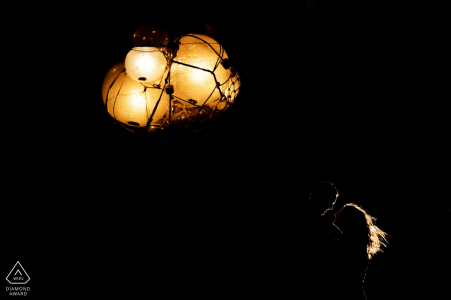 Key West engagement photos - Underwater lights at night