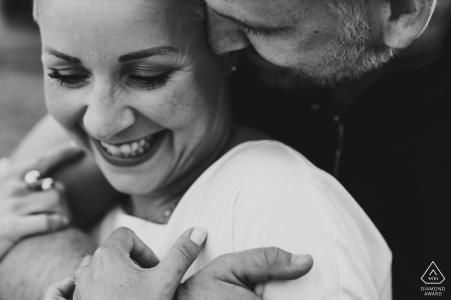 Meersburg pre wedding engagement shoot in Black and white only