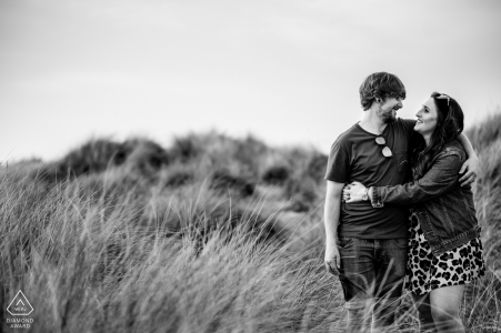 Lytham St Annes Engagement Picture - Happy excitement before big day