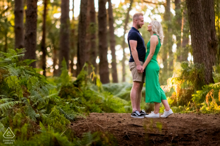 Engagement Couple Session - L'image contient: Forest of Chicksands Wood, Royaume-Uni