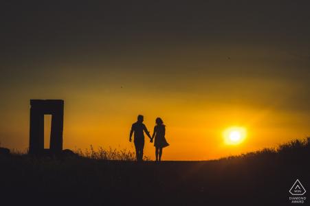 Crete Senesi, séance photo de fiançailles en Toscane