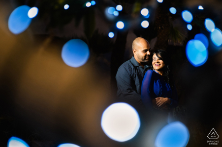 Balboa Park, San Diego Engagement Photography | A Couple poses in Bokeh