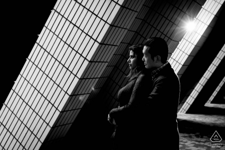 Hong Kong Pre-Wedding Portrait Session in Black and White