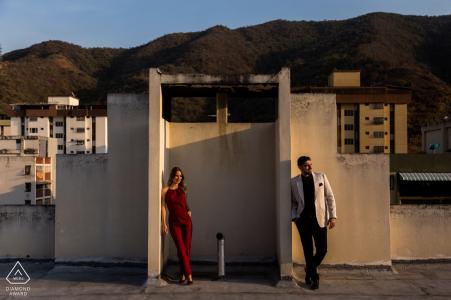 Caracas Magic Light Portraits - Sunset Engagement Photoshoot
