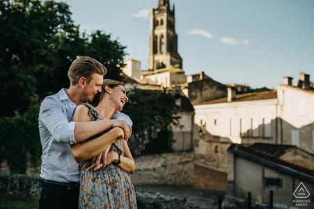 Saint Emilion, Nouvelle-Aquitaine, France Pre-wedding love session