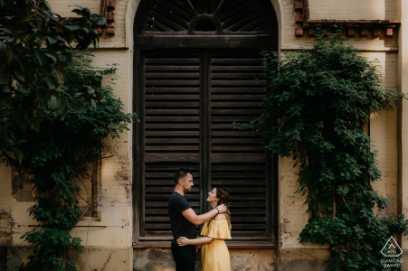 Barcelona, Spain Engagement session in the Ciutadella parc