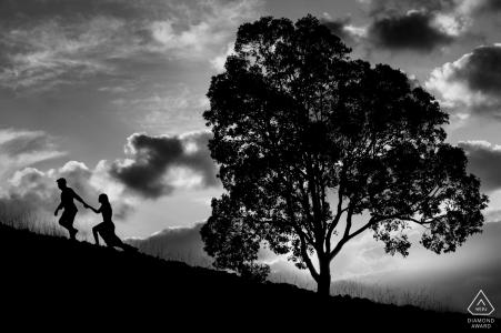 Perth Couple Love Portraits - Marcher ensemble au coucher du soleil