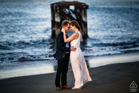 California wedding and engagement photographer - San Francisco couple - Hold me tight