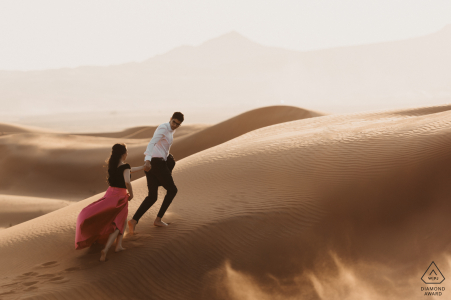 Picture from Maleiha Desert, Dubai - Engaged Couple Exploring the desert