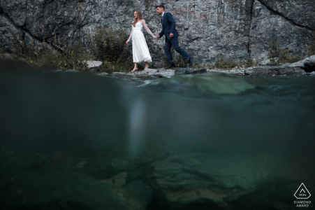 Russia, Miass Engagement Shoot Session - Underwater portrait