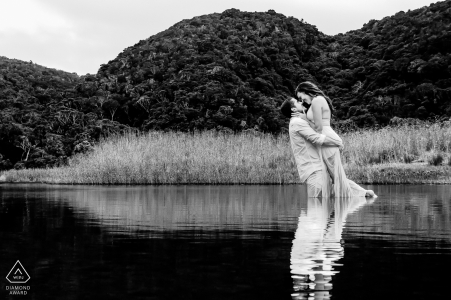 Engaged Couple Session | Knoetzie beach, Knysna - Towards the end of the photo shoot, the couple didn't mind getting wet and we had some fun recreating this Grease movie moment.